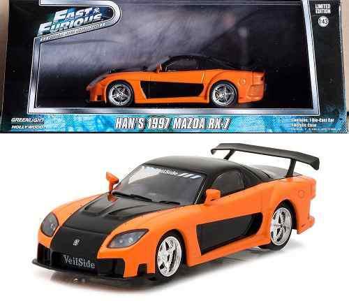 Rapido Y Furioso Mazda Rx-7 Tokyo Drift Han 1997 1:43 0