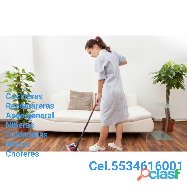 Personal domésticos de planta y entrada x salida 0