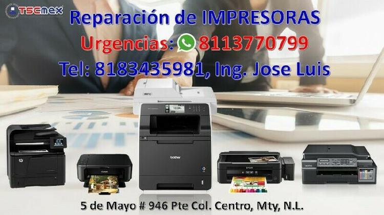 Reparación de Impresoras en San Nicolas 0