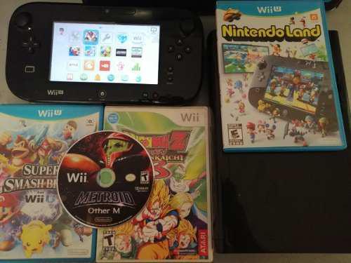 Nintendo Wii U + Smash,mariokart, 4 Fisicos Y 4 Digitales 0