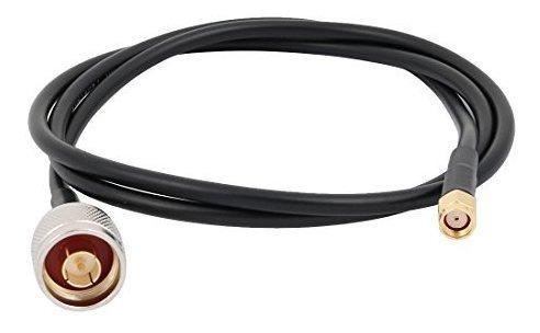 Conector Macho Uxcell Ntype A Rpsma Antena Hembra Cable Flex 0
