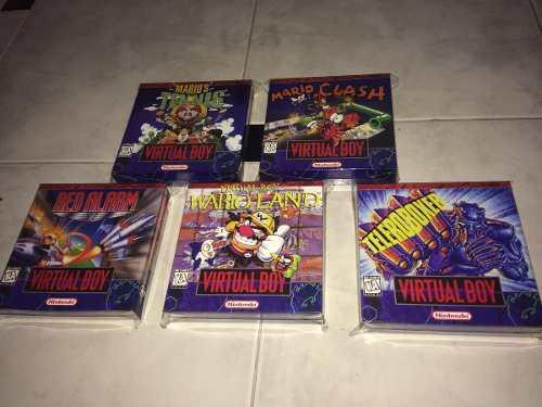 5 Cajas Custom Para Juegos Virtual Boy (solo Son Cajas) 0