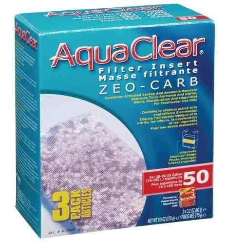 Repuesto Zeolita Carbon 3pack Filtro Aquaclear 50 190lts 0