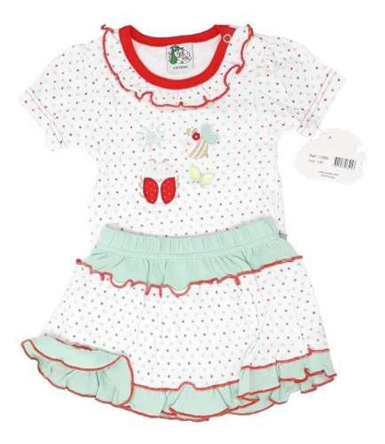 Pañaleros Ropa Para Bebe Niña Fsbaby 2pzs Tipo Carters 0