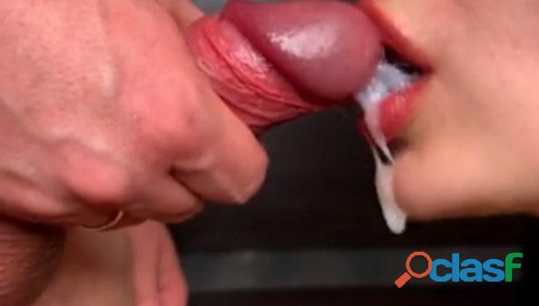 Chupa mi herramienta carnosa y bebe su nectar cremoso 2