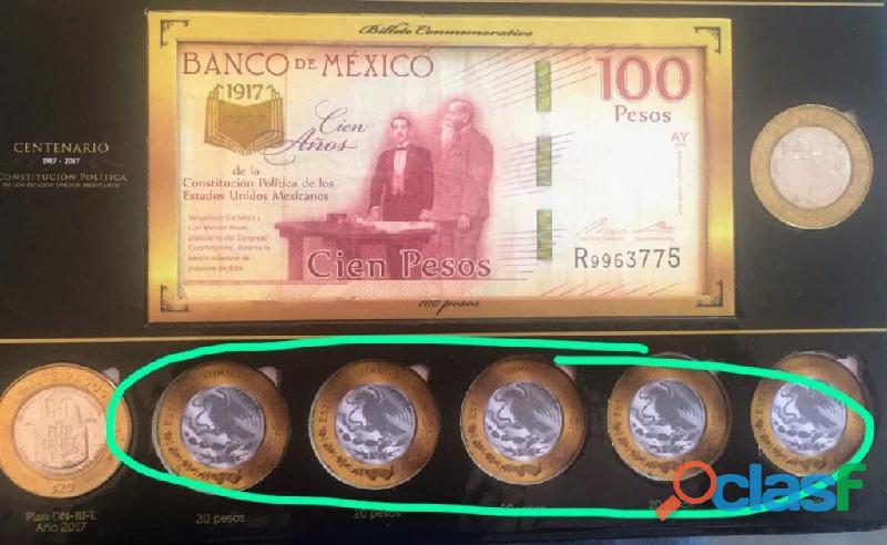Coleccion de monedas de 5, 10 y 20 conmemorativas LS 7