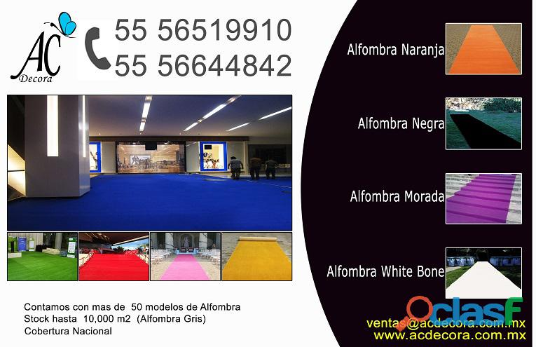 Alquiler de alfombra gris, negra, roja, blanca, verde, rosa, morada, amarilla