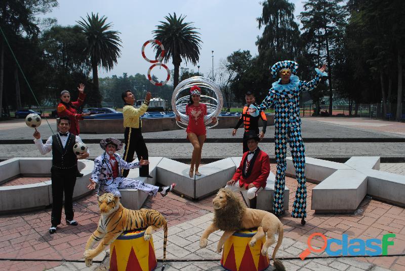 Funiones de circo para celebrar el día del niño