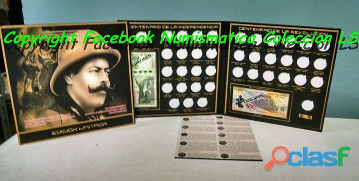 Coleccion completa monedas Bicentenario SALTILLO LS 1