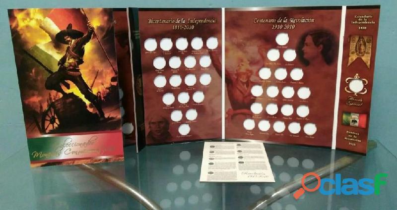 Coleccion completa monedas Bicentenario SALTILLO LS 3