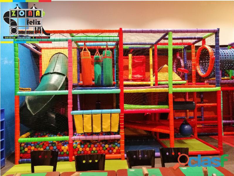 Juegos infantiles modulares con resbaladeros