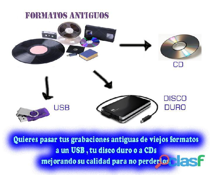 Quieres rescatar y pasar tus grabaciones de formatos antiguos a formatos digitales...?
