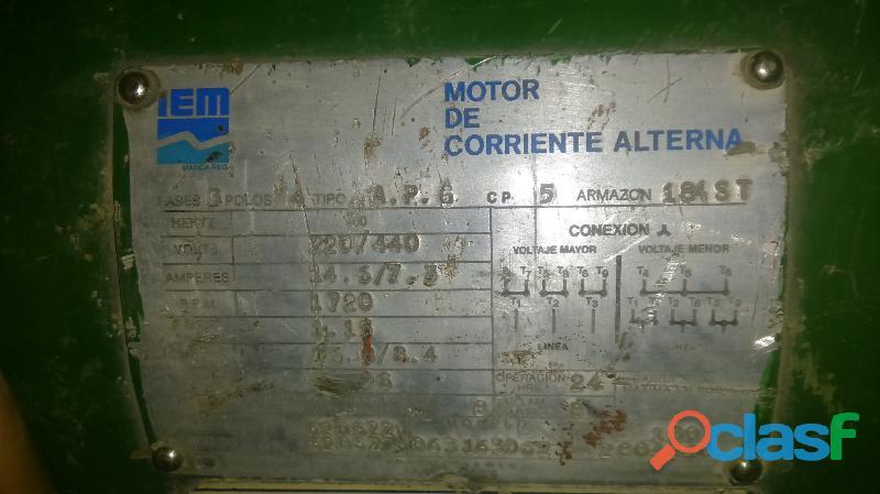 Motor electrico IEM 5 hp 1