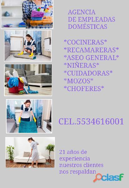 Empleadas domésticas confiables 5534616001