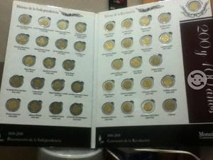 Album completo de monedas de 5 bicentenenario