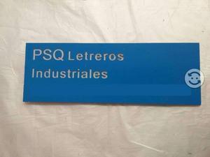 Letreros industriales, comerciales de uso general