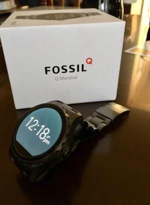 Smartwatch Fossil Q Marshall, Color Negro