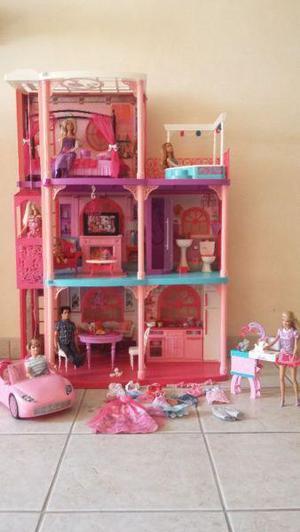 Casa de barbie de los sueños con elevador, sonidoy auto