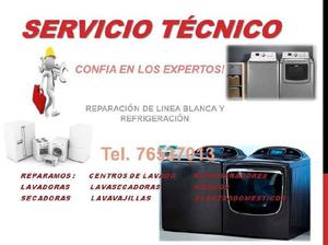 Reparación de línea blanca (lavadoras, secadoras, centros