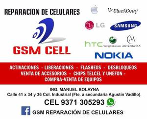 Reparación de celulares y tablets gsm cell