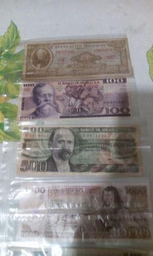 Billetes antiguos mexico