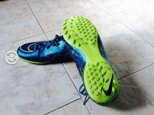 Tenis futbol rápido nike mercurial azul  amp  amarillo 0551d5d03723a