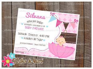 Invitaciones, oraciones y recuerdos para baby shower