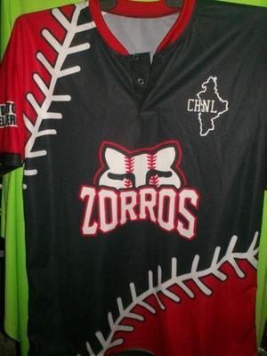 Playeras y camisolas para beisbol y softbol sublimadas