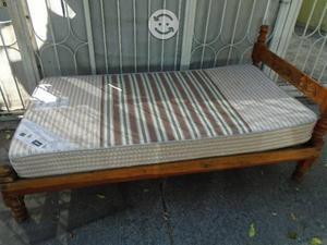 Resistente cama individual clasf for Cama individual base y colchon