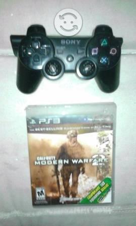 Control PS3 y JUego Call Duty 2
