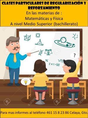 Clases particulares de regularización matemáticas y