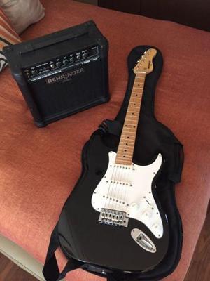 Guitarra y amplificador behringer