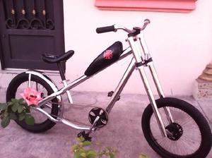 Bicicleta. chopper. cromada. rodada 20