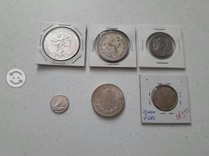 Monedas plata variadas