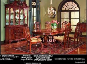 Comedor pedestales clasf for Lo ultimo en sillas de comedor