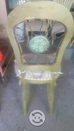 Mesa 6 sillas hierro forjado