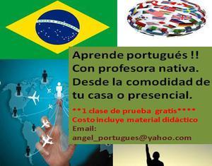 Aprende portugues de brasil, 1 clase gratis
