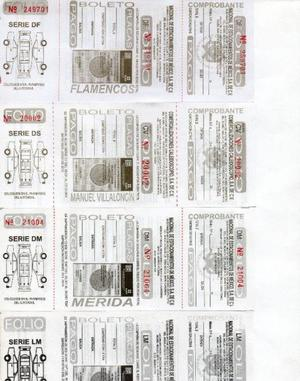 Boletos para estacionamiento y de automatización