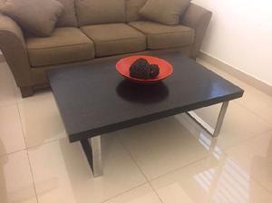 Mesa de centro color negro para sala o estancia