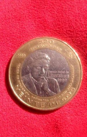 Moneda octavio paz premio nobel de literatura 1990