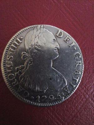 Moneda antigua de plata 8 reales 1796 época colonial