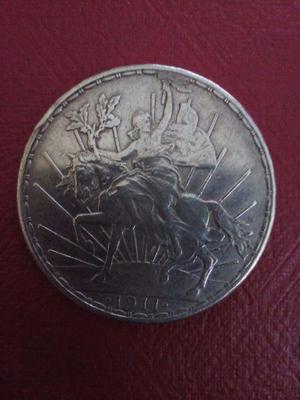 Moneda antigua de plata un peso 1911 buenas condiciones