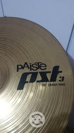 Platillo paiste 3 18 pulgadas. crash ride.