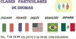 Clases particulares de idiomas: presencial ó skype