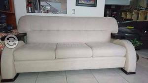 Oportunidad sala sofa y love seat color hueso