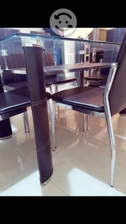 Comedor cristal sillas anuncios mayo clasf for Comedor 6 sillas usado