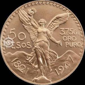 Compro monedas de oro centenarios, azteca, hidalgo