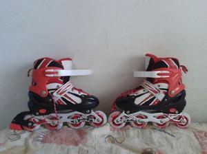 Patines en linea cuatro ruedas, expandibles 82 a 70mm skates
