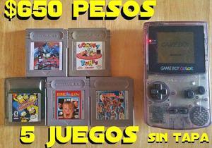 Gameboy color + 5 juegos