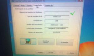 Monitor touch de 17 pulgs.